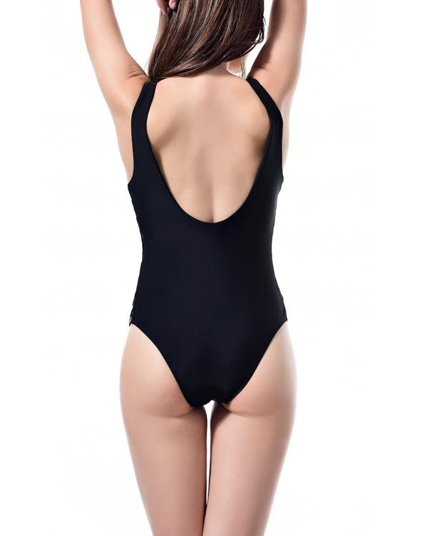 Lace Up  Classic One-piece Bikini Swimsuit