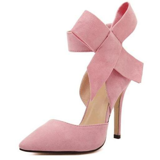 Elegant Bowknot High-heeled Shoes