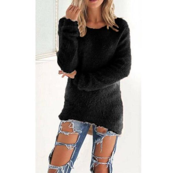 V-neck Tight Long Sleeve Colorful Sweater Top 20% OFF