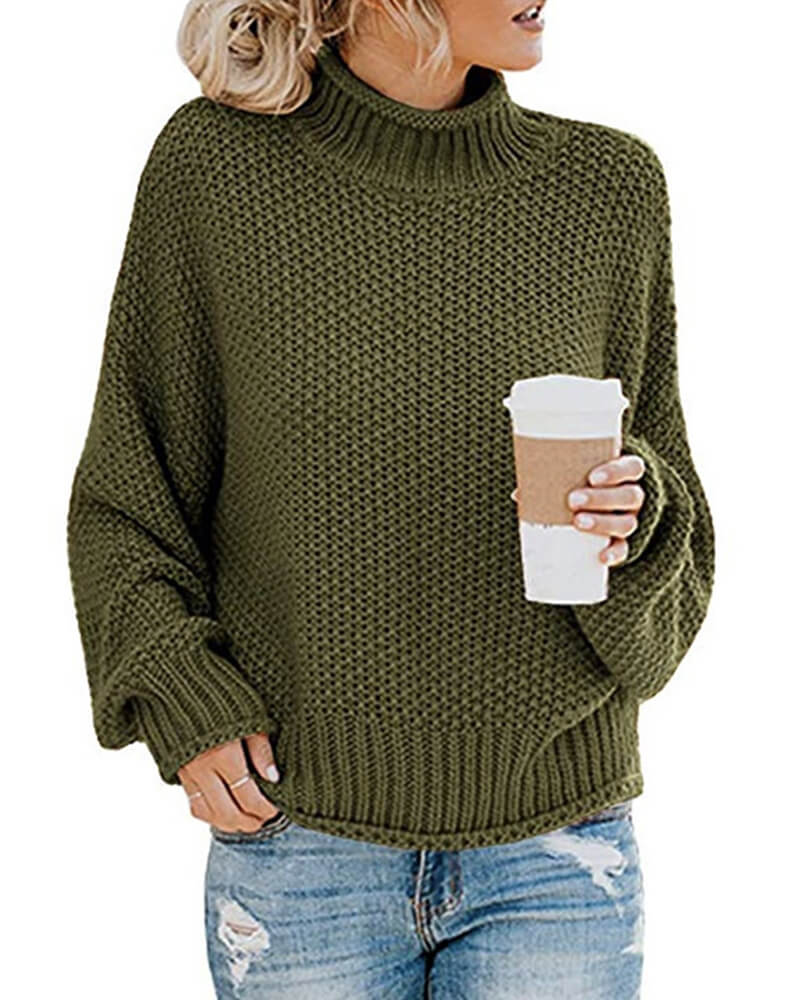 Batwing Sleeve Hollow Out Knit Sweater