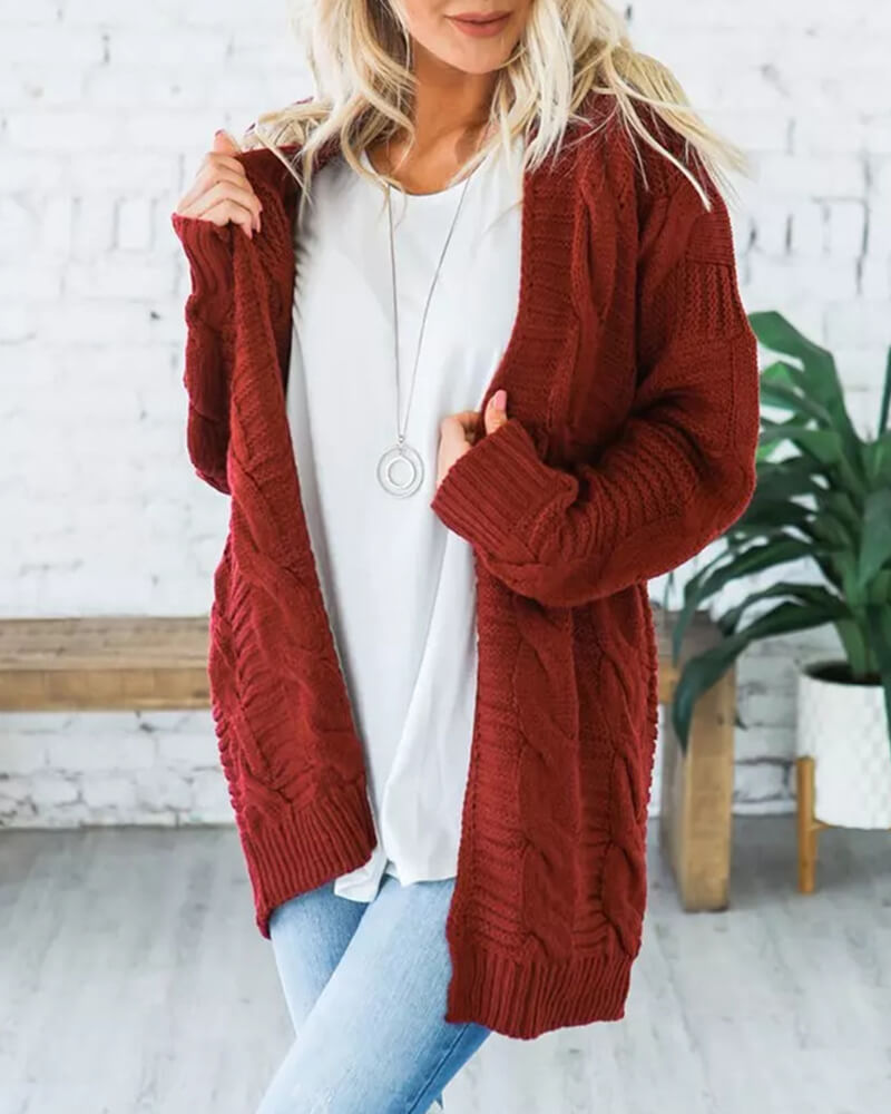 Shawl Collar Knitted Cardigan Sweater