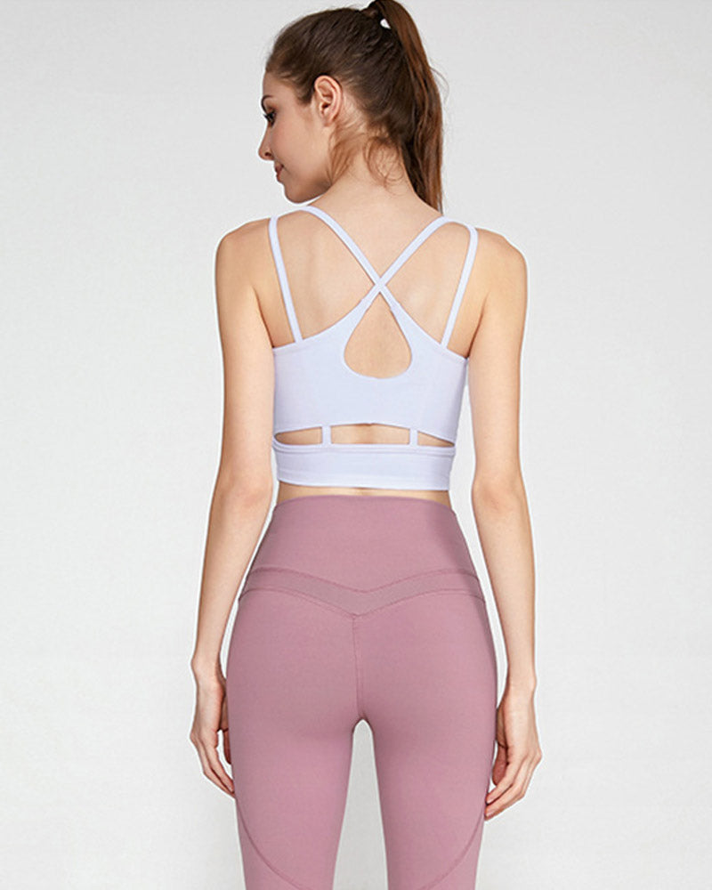 Cross Strappy Workout Tank Top