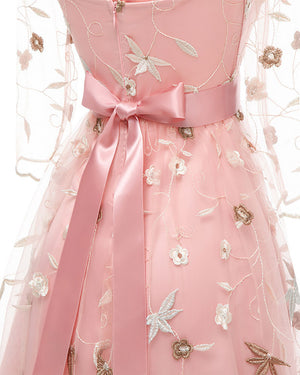 Magnificent Embroidery Floral Dreamer Formal Dress