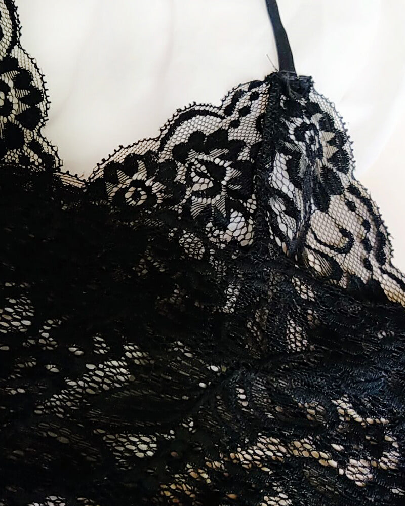 Lace Embroidery Lingerie Set