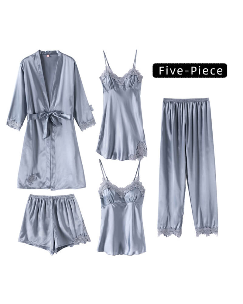 Ice Silk 5-Piece Home Service Suit