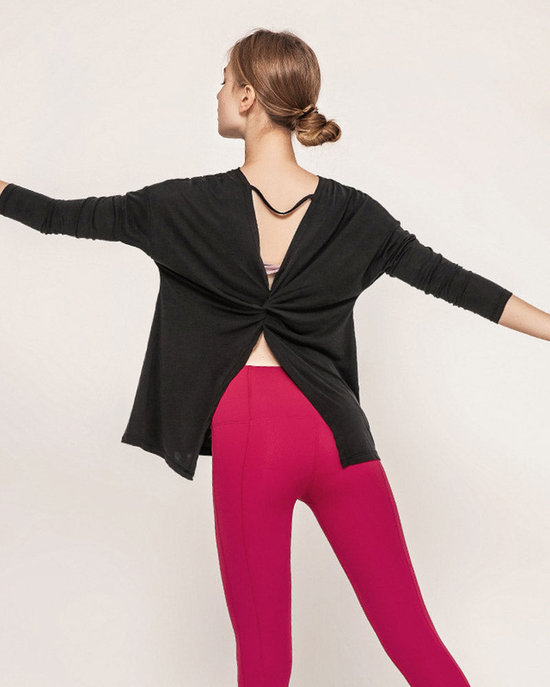 Backless Yoga Dance Workout Tops
