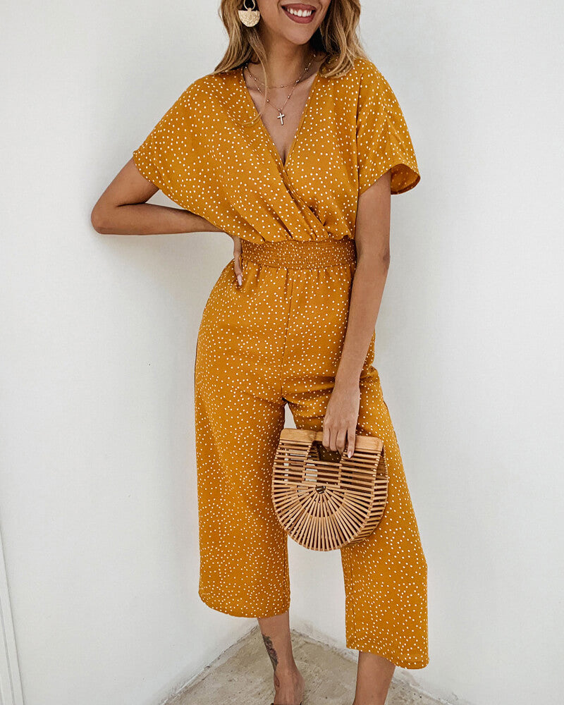 Wide Leg High-Waist Jumpsuit