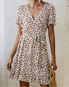 Lovely Leopard Print Wrap Mini Dress