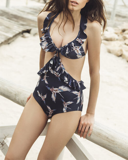 Vibrant Printing One-Piece Swimsuit