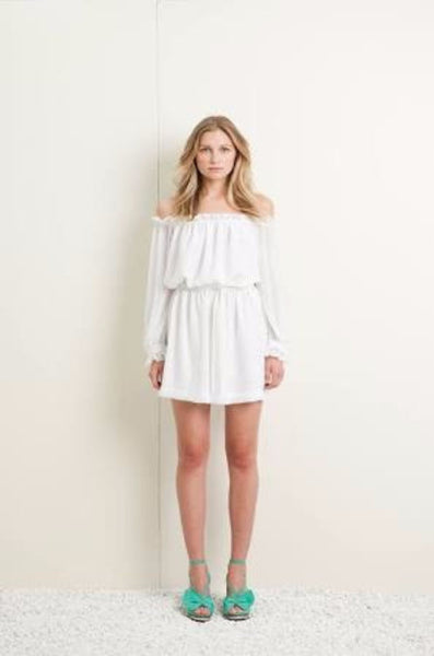 Kingsley Smock Dress - White