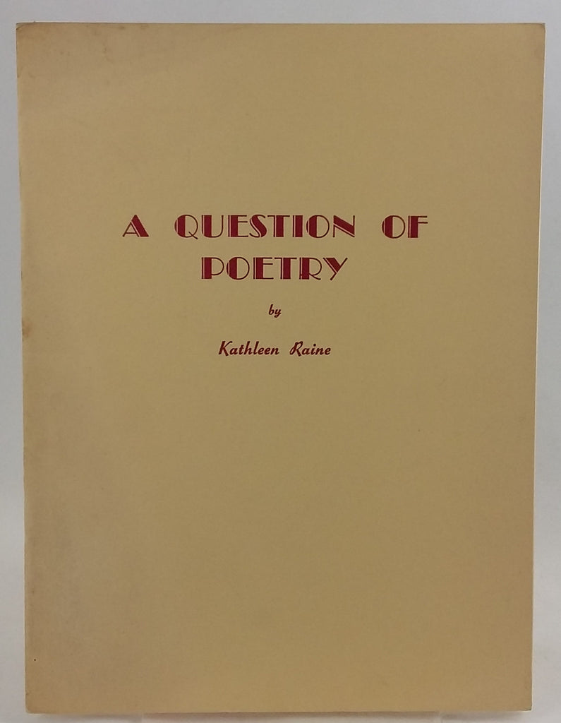 A Question of Poetry
