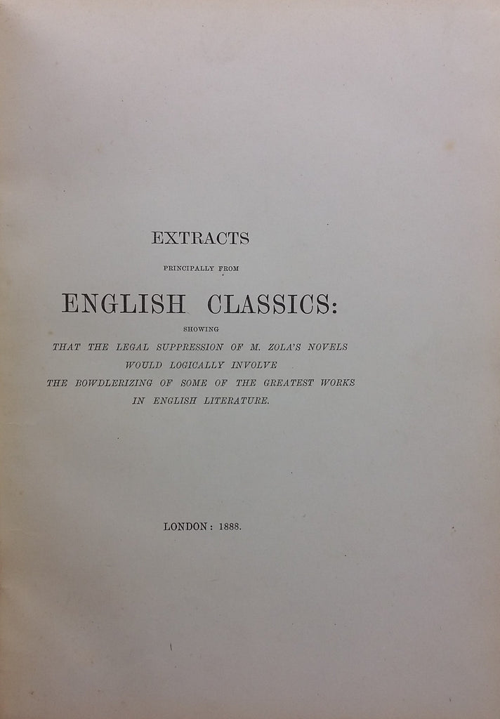 Extracts from the English classics