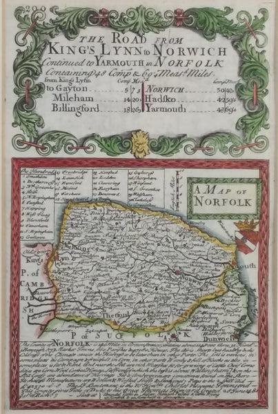 A Map of Norfolk (from Britannia Depicta)