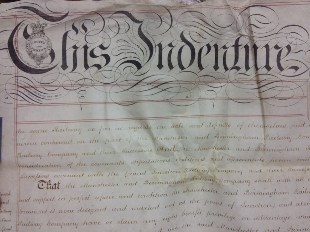 Agreement dated 1st December 1841