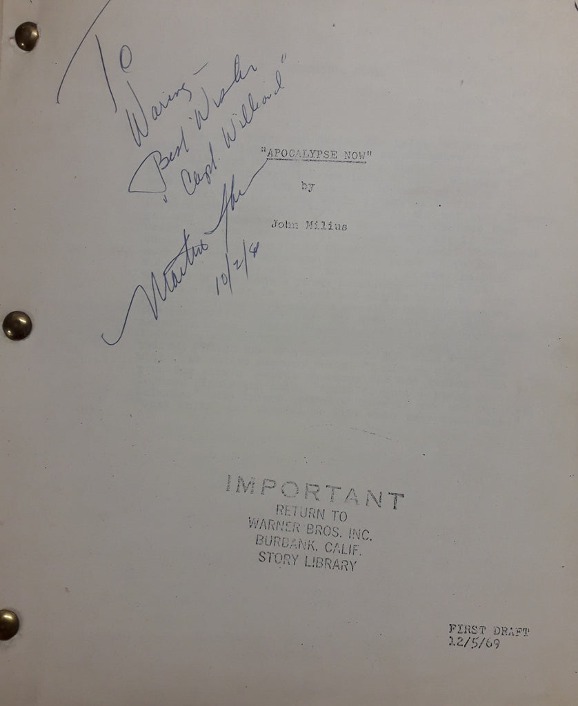 Apocalypse Now - First draft screeplay dated 12/5/69