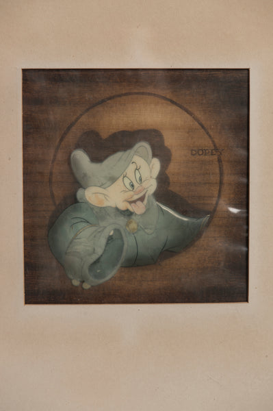 "Animation Cel of ""Dopey"" from Snow White and the Seven Dwarfs"
