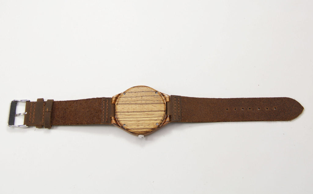 Zebra Wood 44mm Wooden Watch - Www.EverythingWood.Store