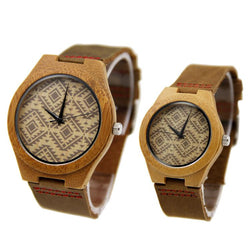 Bamboo wood 44/39 mm Wooden Watch + Free Engraving-W-155 - Www.EverythingWood.Store