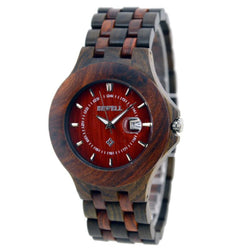 Sleek Red Sandalwood And Maple Luxury Wooden Watch – W080a - Www.EverythingWood.Store