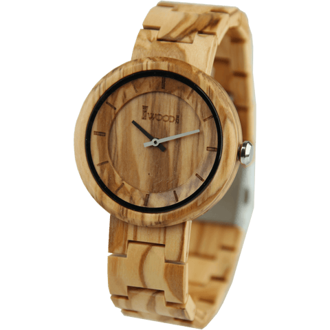 Oliver Wood 44mm Wooden Watch EWS-LBN027