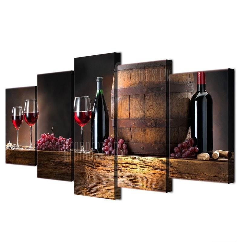 Wooden Cask Grape Wine Printed Canvas Paintings - EWS Custom Gifts - Everything Wood Store