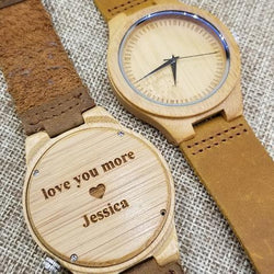 Bamboo 44mm Wooden Watch EWS-LBN002 - EWS Custom Gifts - Everything Wood Store