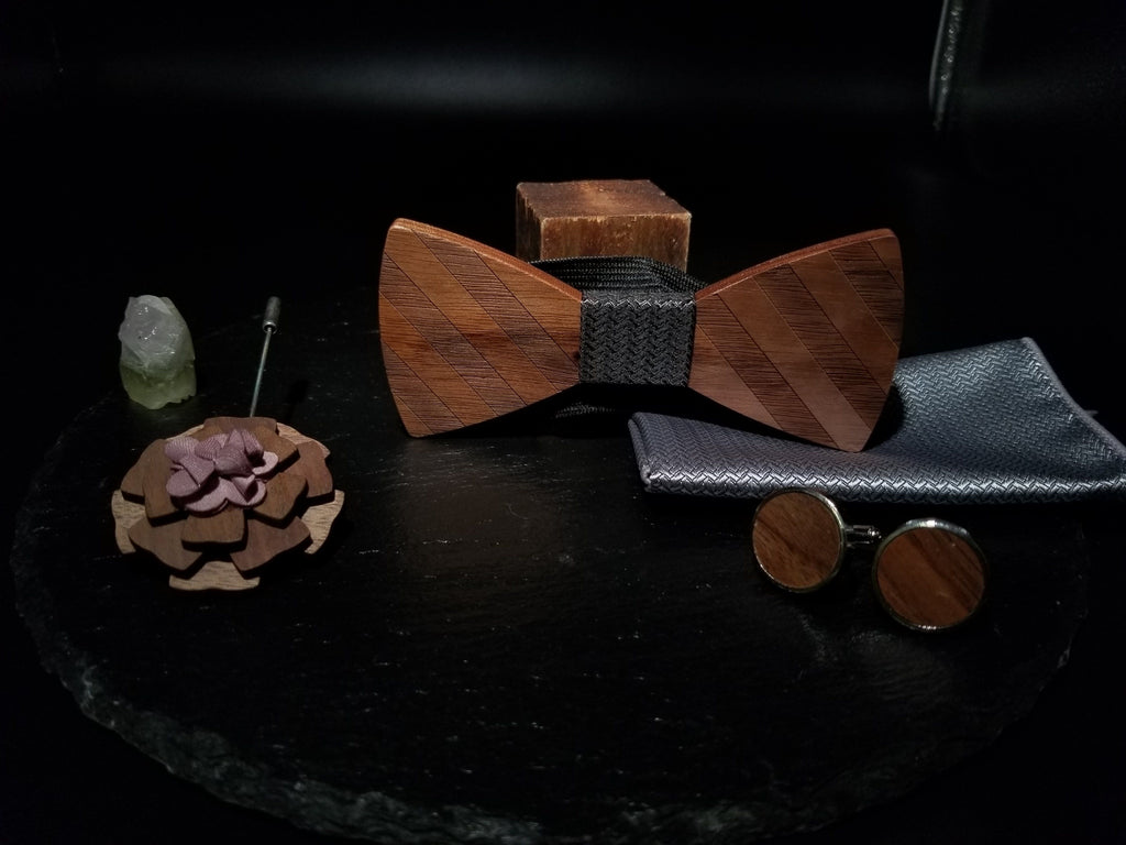 Wooden BowTie Dark Collection - EWS Custom Gifts - Everything Wood Store