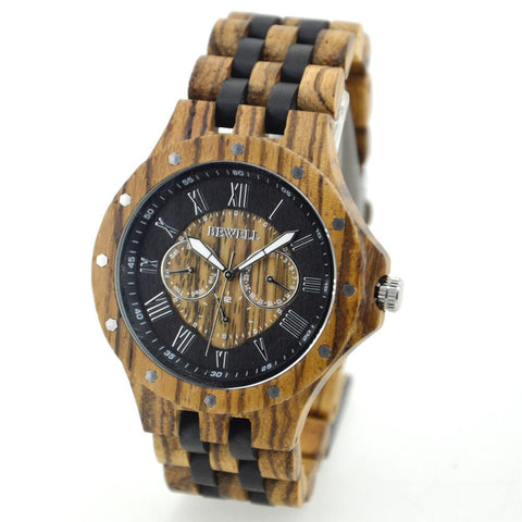 Wooden Luxury Watch-W116C new model - Www.EverythingWood.Store