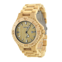 Cream Premium Wooden Luxury Watch For Men – W023b - Www.EverythingWood.Store