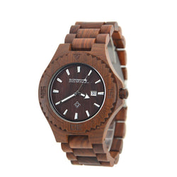 Red Premium Wooden Luxury Watch For Men – W023b - Www.EverythingWood.Store