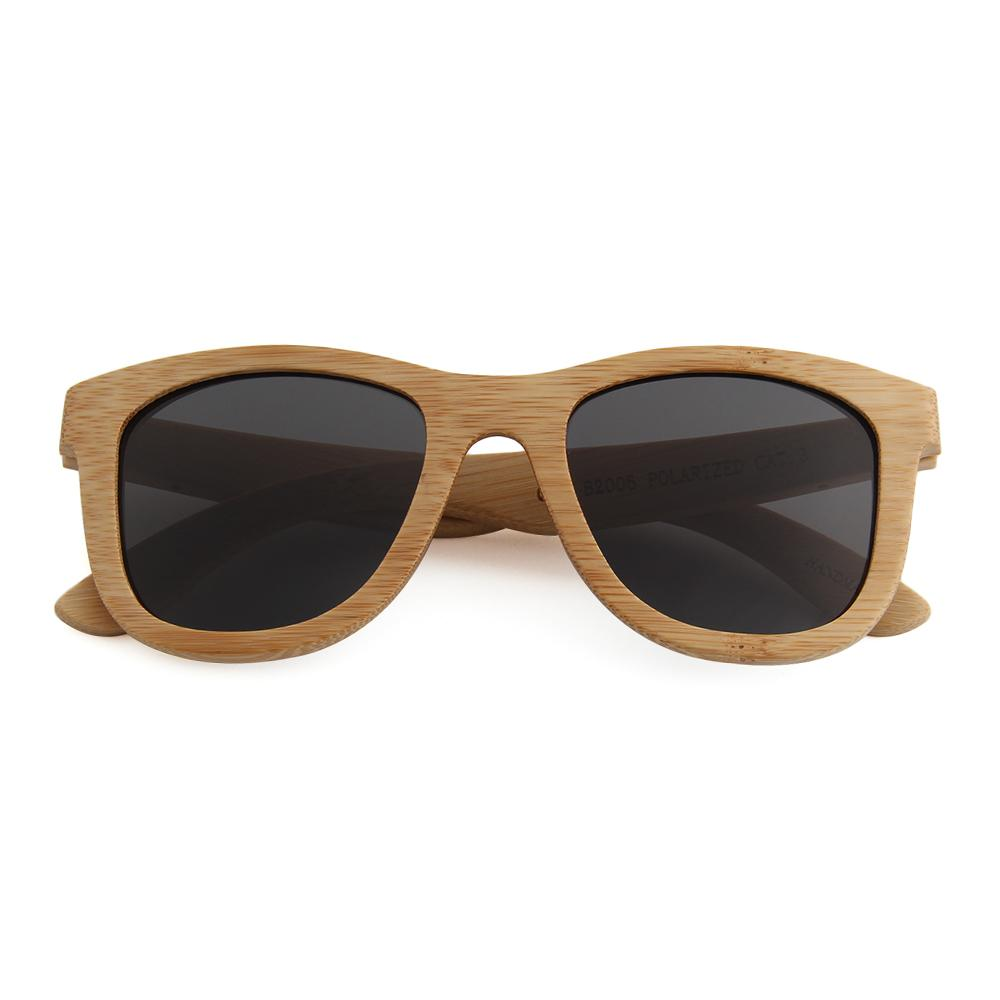 Bamboo frames with Smoke polarized lens B 2006 - EWS Custom Gifts - Everything Wood Store
