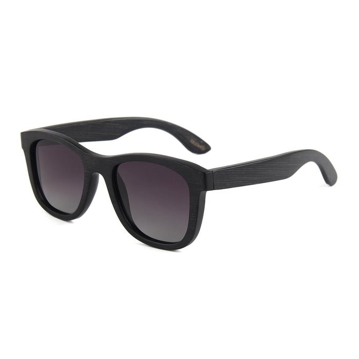 Black frames with Smoke polarized lens B 2006-3 - EWS Custom Gifts - Everything Wood Store