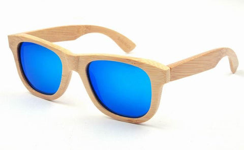Bamboo frames with Ice-Blue REVO polarized lens - Www.EverythingWood.Store