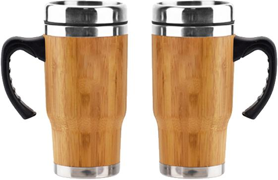 Bamboo and Stainless Steel Coffee Travel Tumbler - Www.EverythingWood.Store