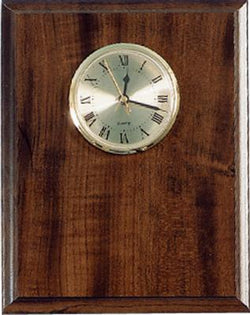 "Elegant Cherry Clock Plaque 8"" x 10"" - EWS Custom Gifts - Everything Wood Store"