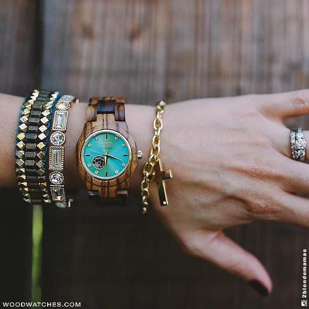 JORD CORA SERIES - ZEBRAWOOD & TURQUOISE - EWS Custom Gifts - Everything Wood Store