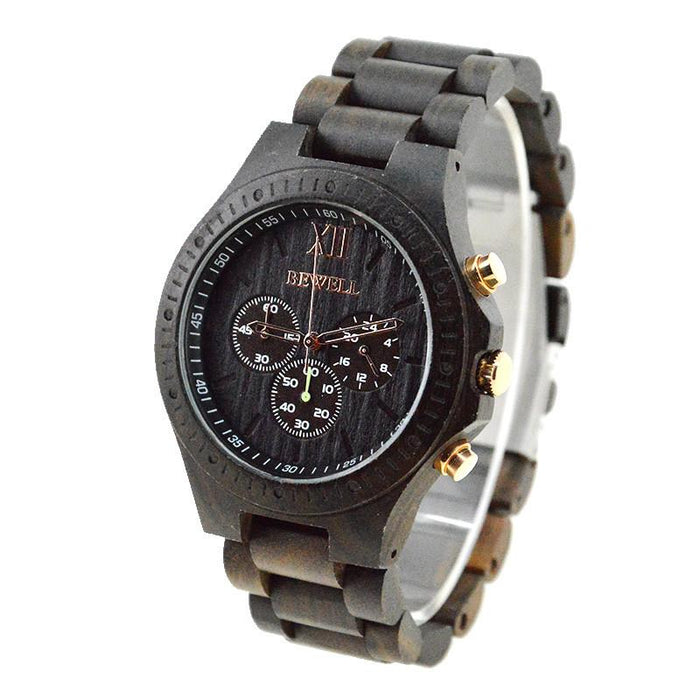 and men wood eco friendly stainless custom for unique en karbon zebra black women matte watches wooden durable