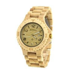 Wooden Luxury Watch-W023B (Gold Hour Mark) - Www.EverythingWood.Store
