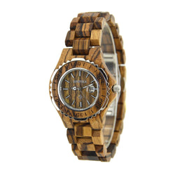 Wooden Luxury Watch-W100BL(lady) - Www.EverythingWood.Store
