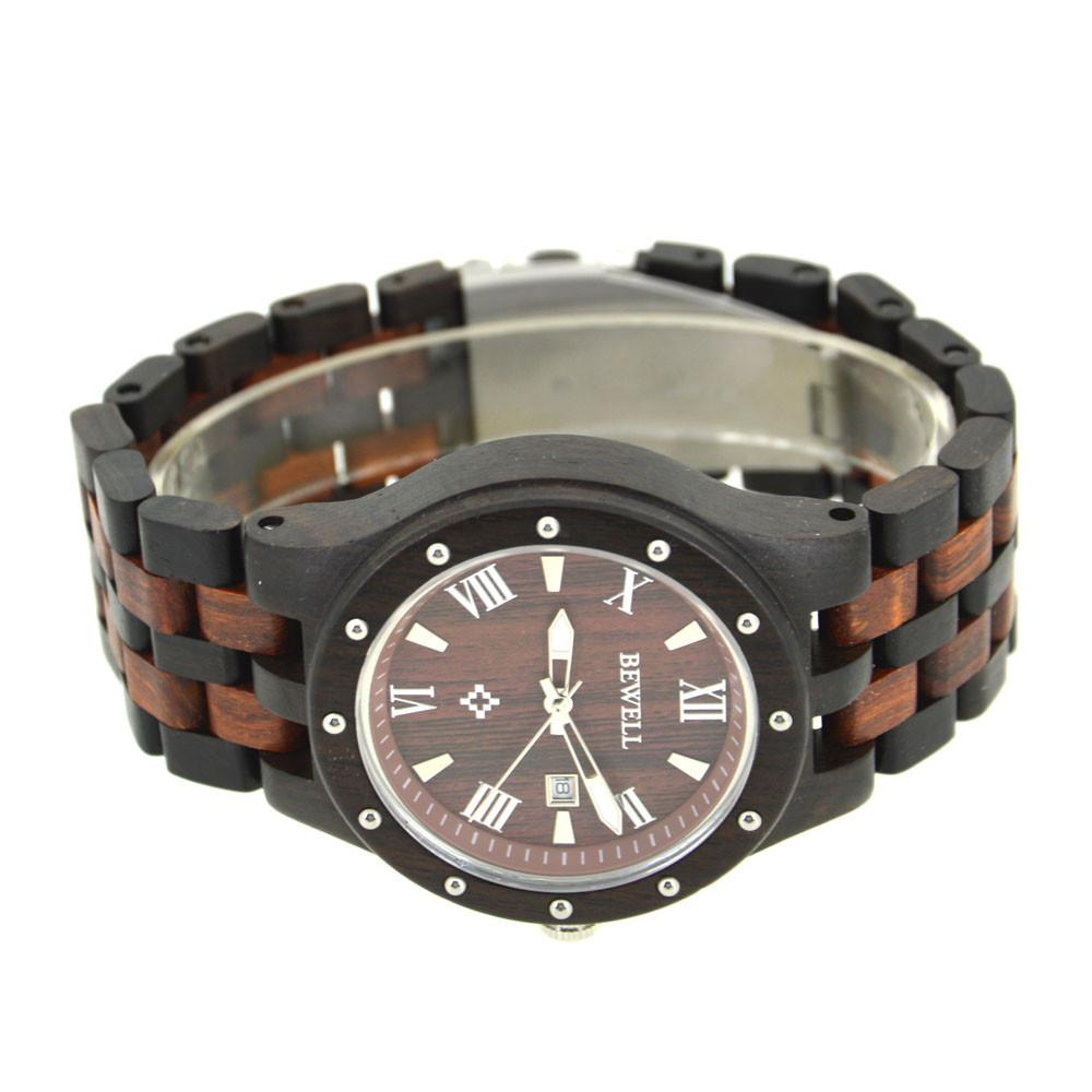 Black Red Sandalwood Luxury Wooden Меn Watch (New Model) - Www.EverythingWood.Store