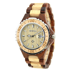 Wooden Luxury Watch-W100BG(men) - Www.EverythingWood.Store