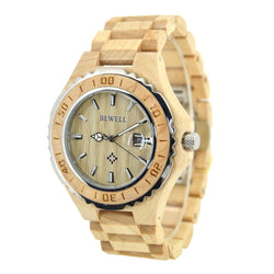 Wooden Luxury Watch-W100BG (man) - Www.EverythingWood.Store