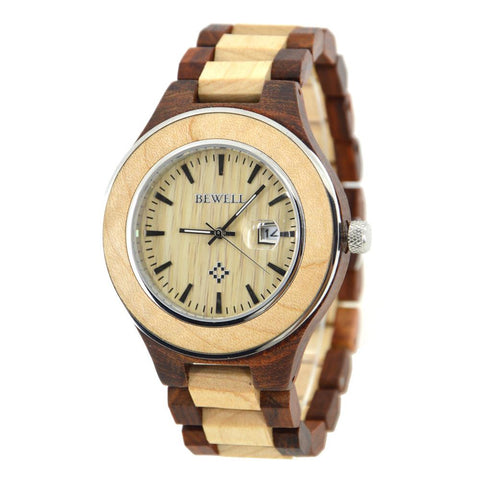 Wooden Luxury Watch-ZS-W100AG - Www.EverythingWood.Store