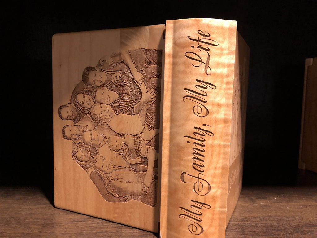 Customizable Maple Wood Photo Album. - EWS Custom Gifts - Everything Wood Store