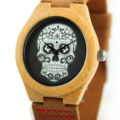Bamboo Wood 44mm Wooden Watch EWS-LBN035