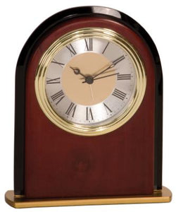 "Mahogany Finish Arch Clock 6 1/2"" - EWS Custom Gifts - Everything Wood Store"