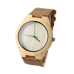 Bamboo 44mm Wooden Watch + Free Engraving-W-208 - Www.EverythingWood.Store