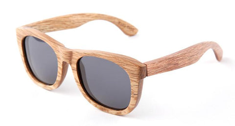 Beige wood frame with  Gray polarized lens - Www.EverythingWood.Store