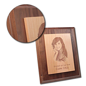Foto engraving on Maple Plaque Plate - Www.EverythingWood.Store
