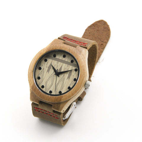 Bamboo wood 39/44 mm Wooden Watch + Free Engraving-W-007 Natick - Www.EverythingWood.Store